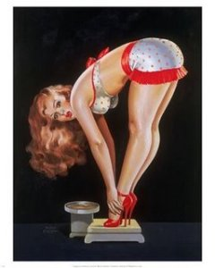 Pin-up-Girl-on-Scale-Print-C12175827